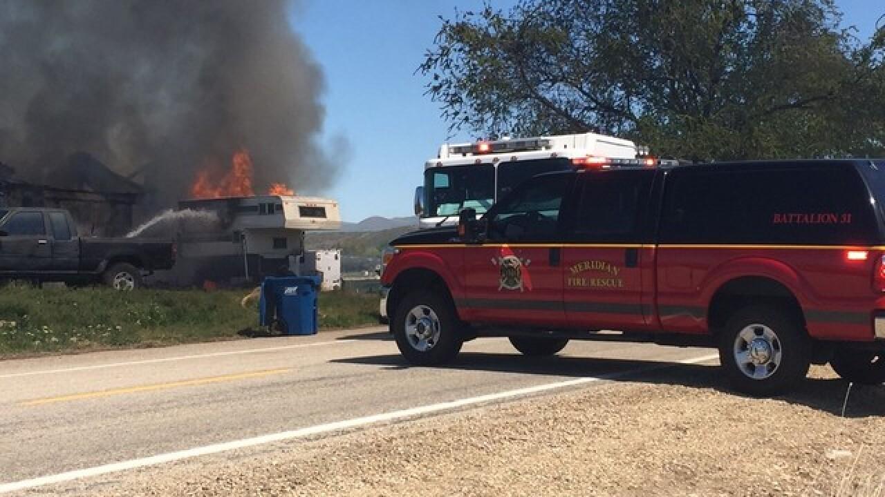 2-alarm fire near Firebird Raceway