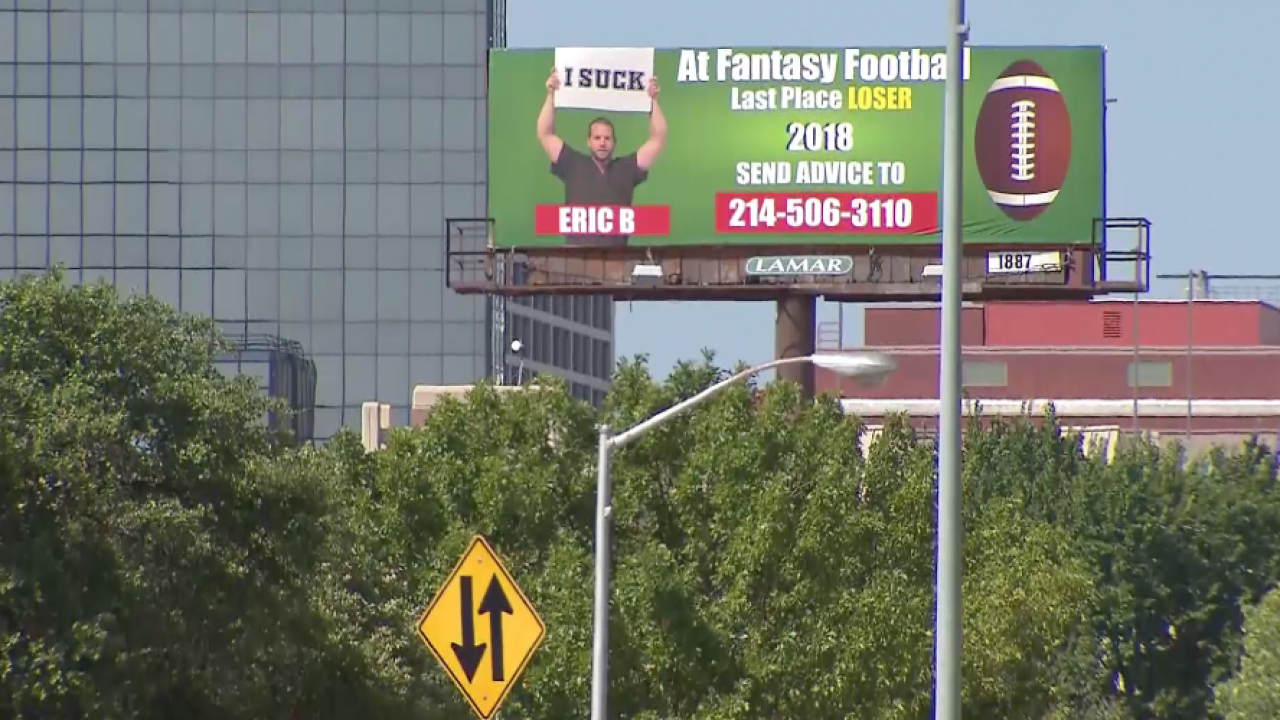 Highway humiliation: Fantasy football loser punished by public shaming