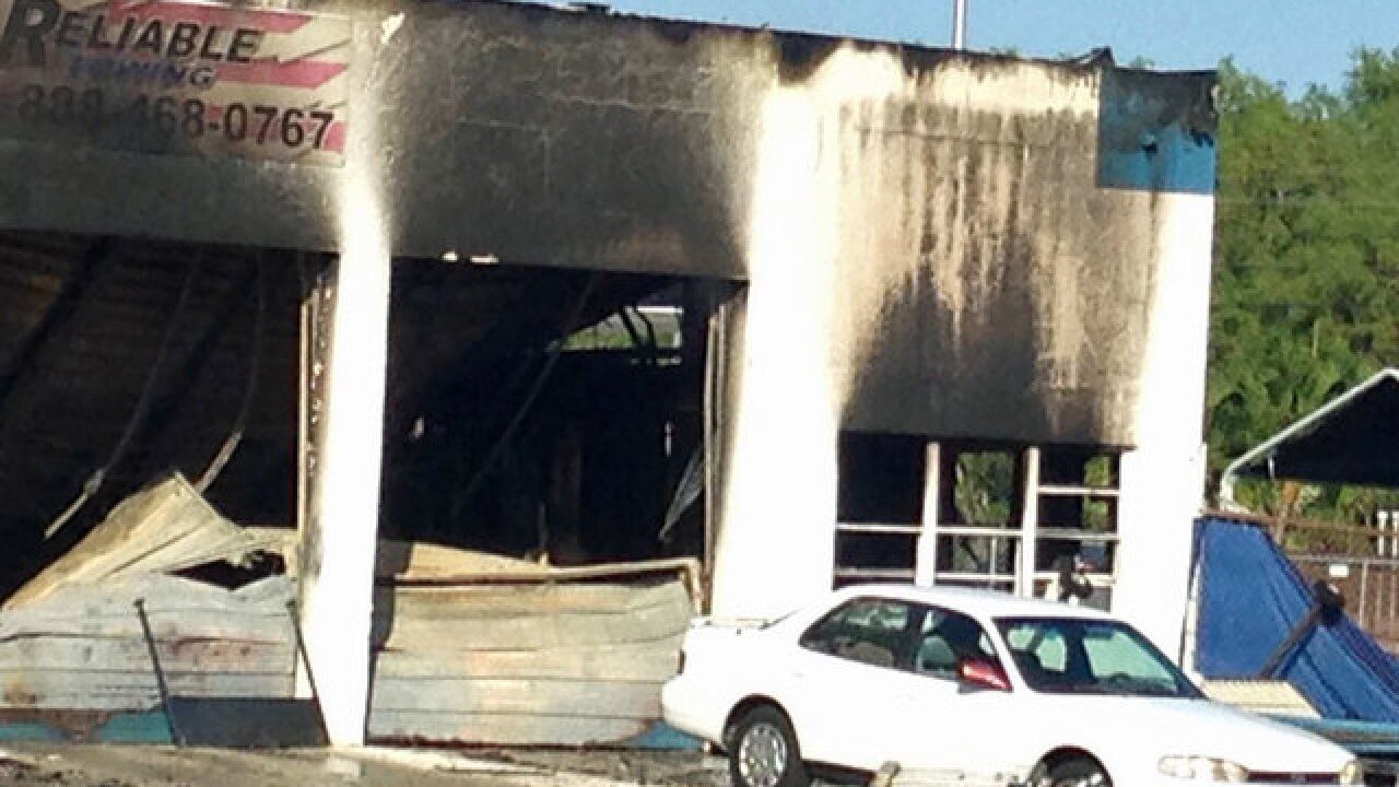 Fire engulfs business in Martin County