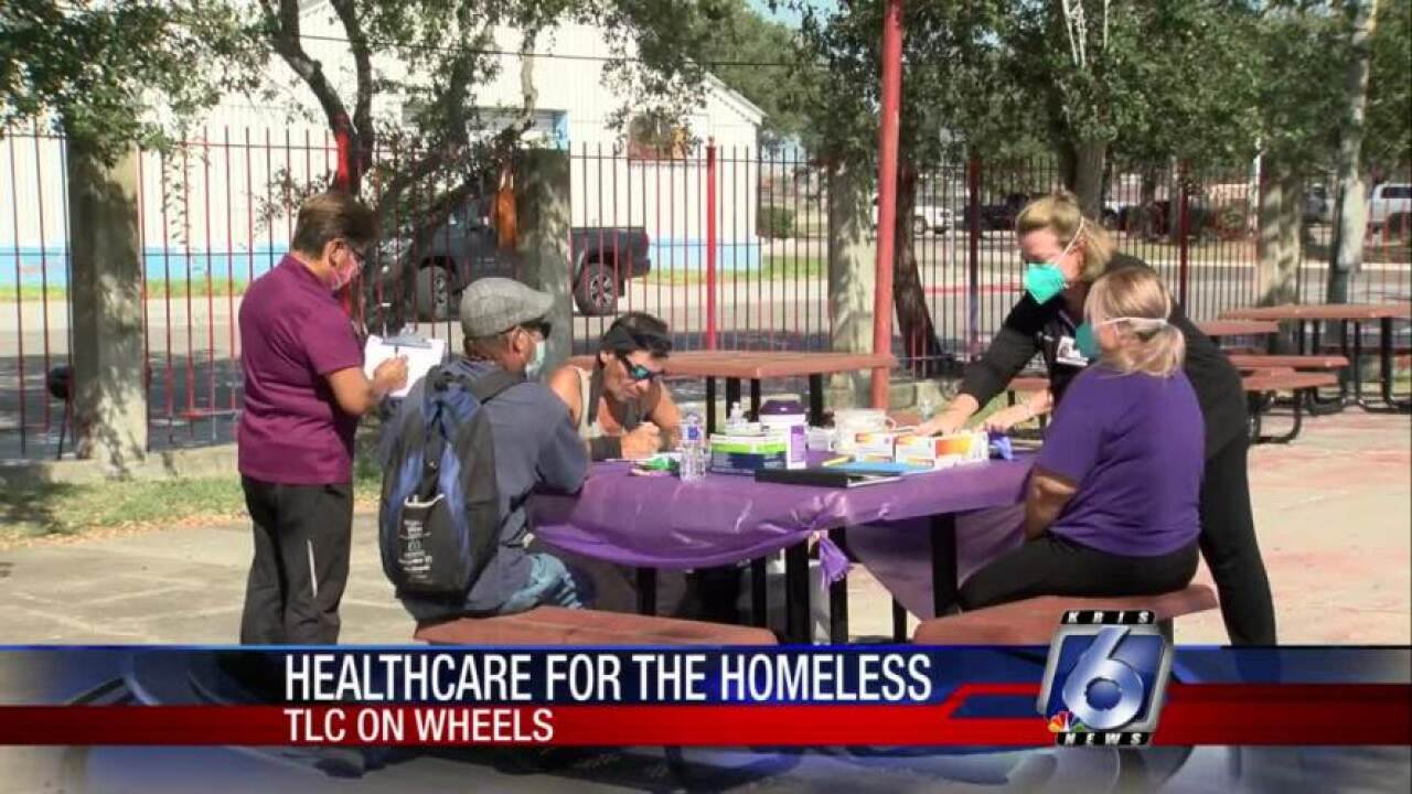 Homeless receive free medical aid