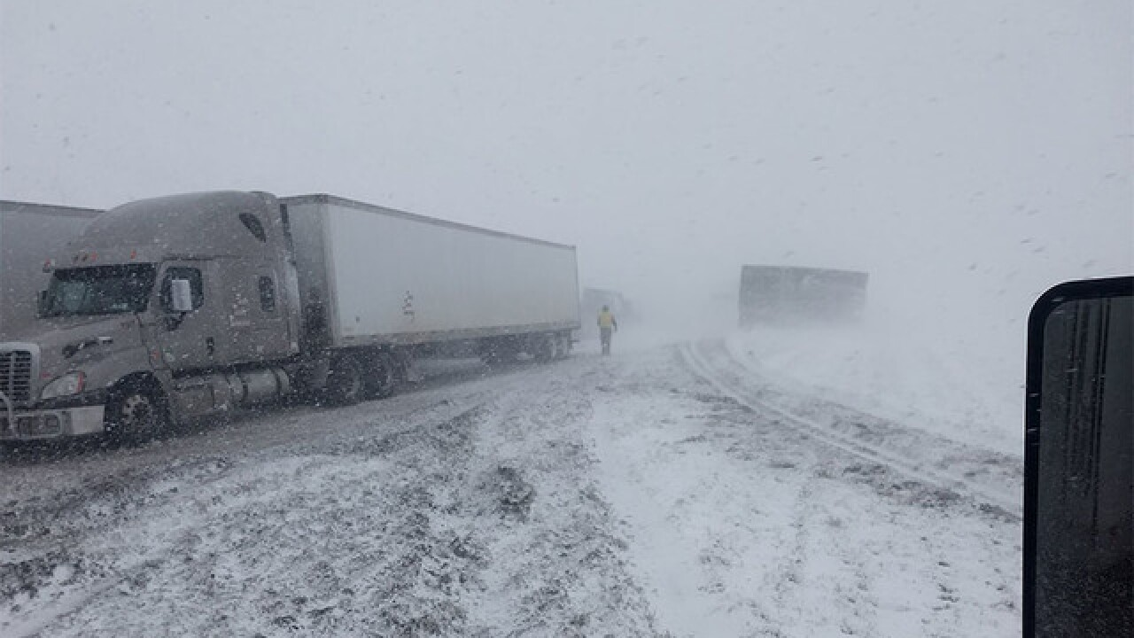 Blizzard conditions shut down I-70 in E. Colo.