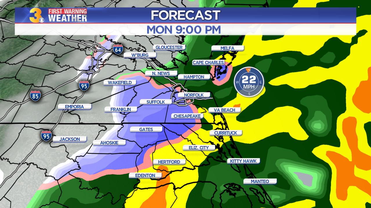 First Warning Forecast: Wintry mix ending, sunny and windy weatherahead