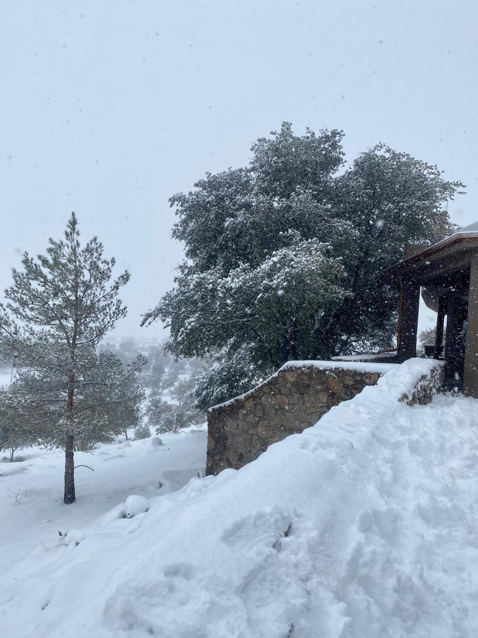 Snow on the wall near the Coronado National Forest, Hereford AZ