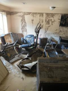 The basement of another home in Pueblo West after the flash flooding.