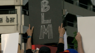 BLM sign omaha protest black lives matter