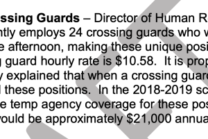 GFPS increased pay for crossing guards. The measure became effective August 1.