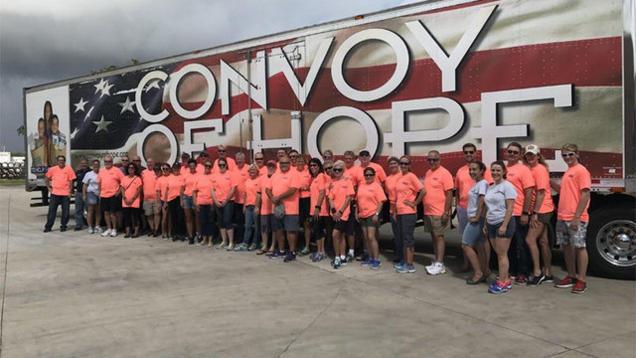 Volunteers help at Palm Beach County Food Bank