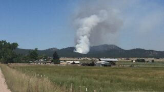DNRC, multiple volunteer fire departments battling fire in Helena's North Hills