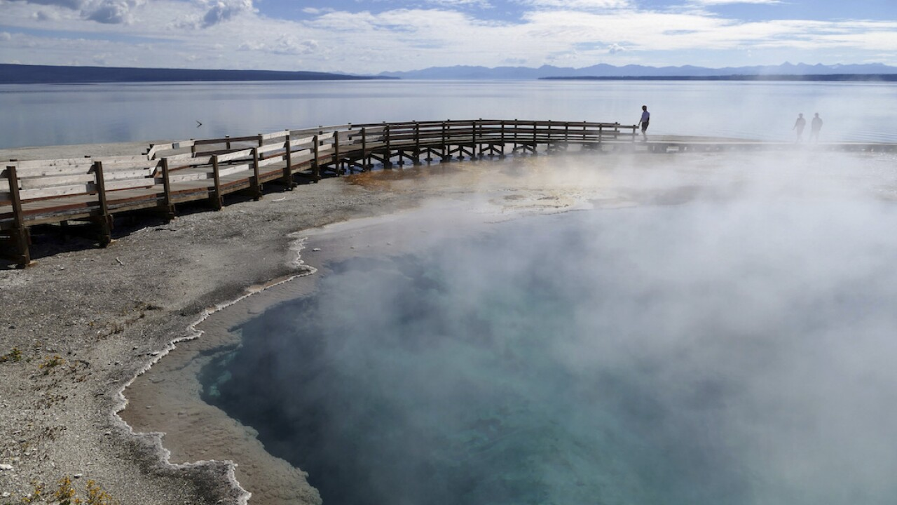 Yellowstone bans 3 men who tried to cook chickens in hot spring