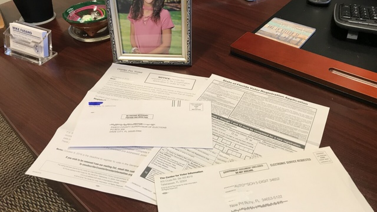 9-year-old girl gets voter registration in mail
