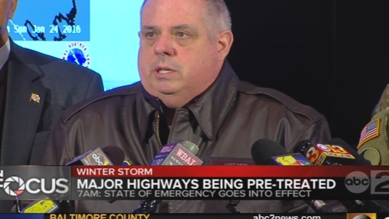 Hogan urges residents to check on neighbors