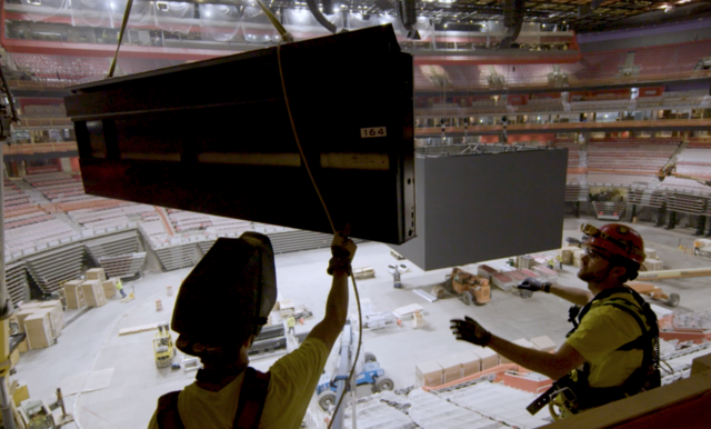 Photo gallery: Check out the massive video system at Little Caesars Arena