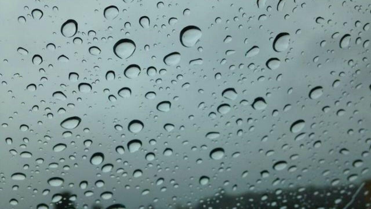 San Diego raindrop