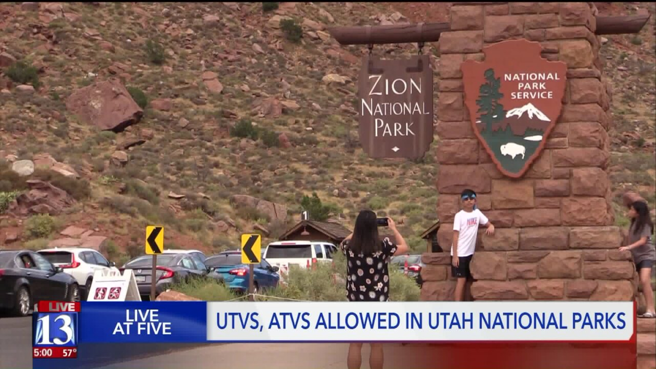 New policy will allow 'street legal' ATVs on roads in national parks in Utah