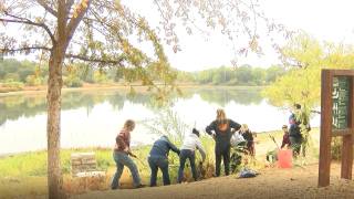 On Saturday morning, community members got to work early for the annual clean up and beautification of the Atascadero Lake.