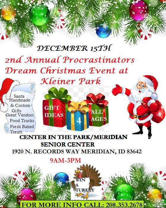 Procrastinators Dream Christmas Event