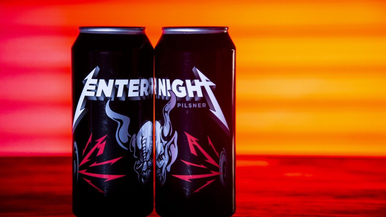 stone brewing company metallica Enter Night Pilsner collaboration beer