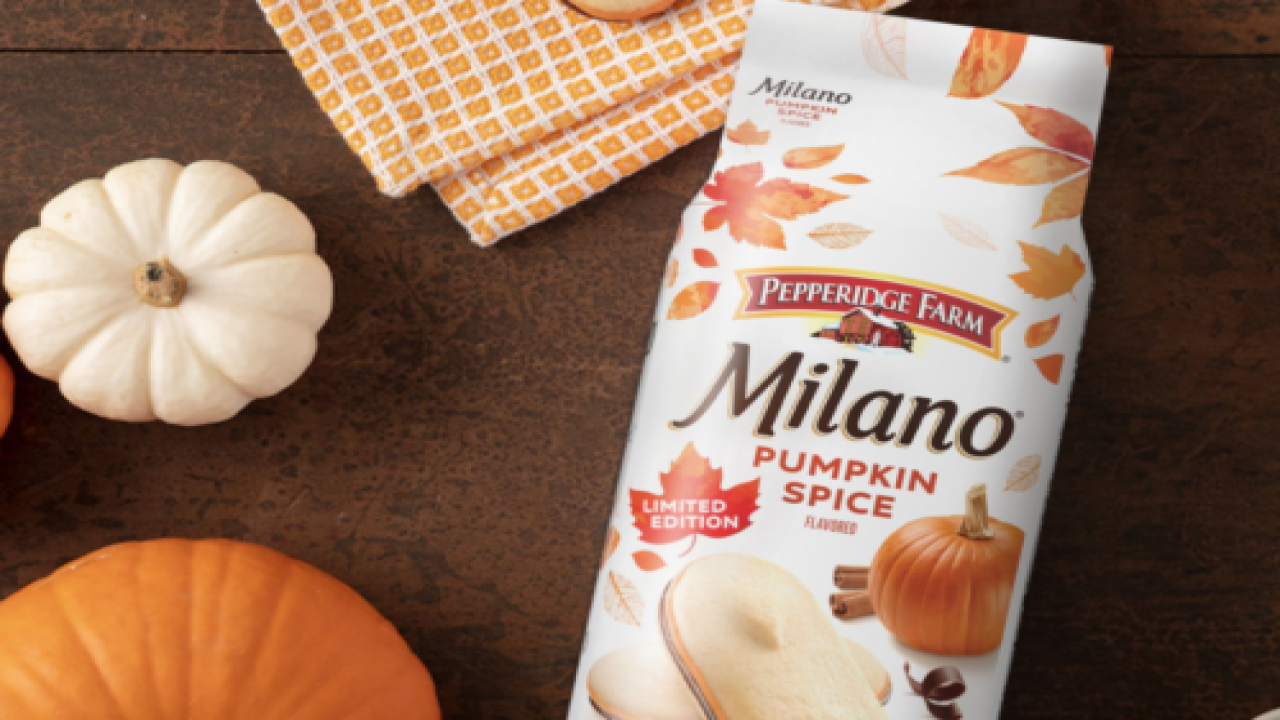 Pepperidge Farm Is Bringing Back Pumpkin Spice Milano Cookies For Fall