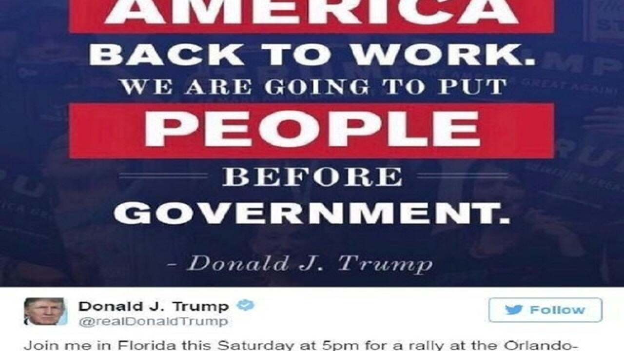Trump announces first post-inauguration campaign rally