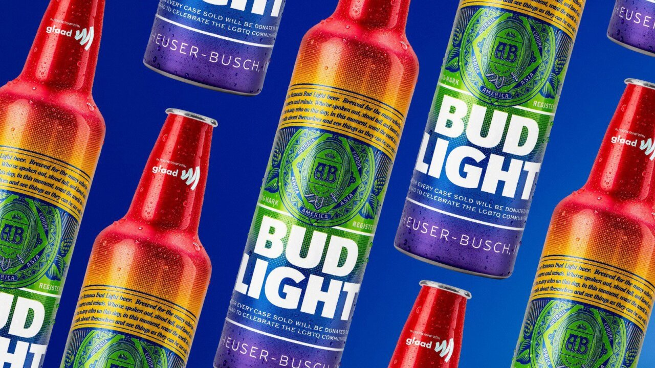 Bud Light to celebrate pride month with rainbow bottles