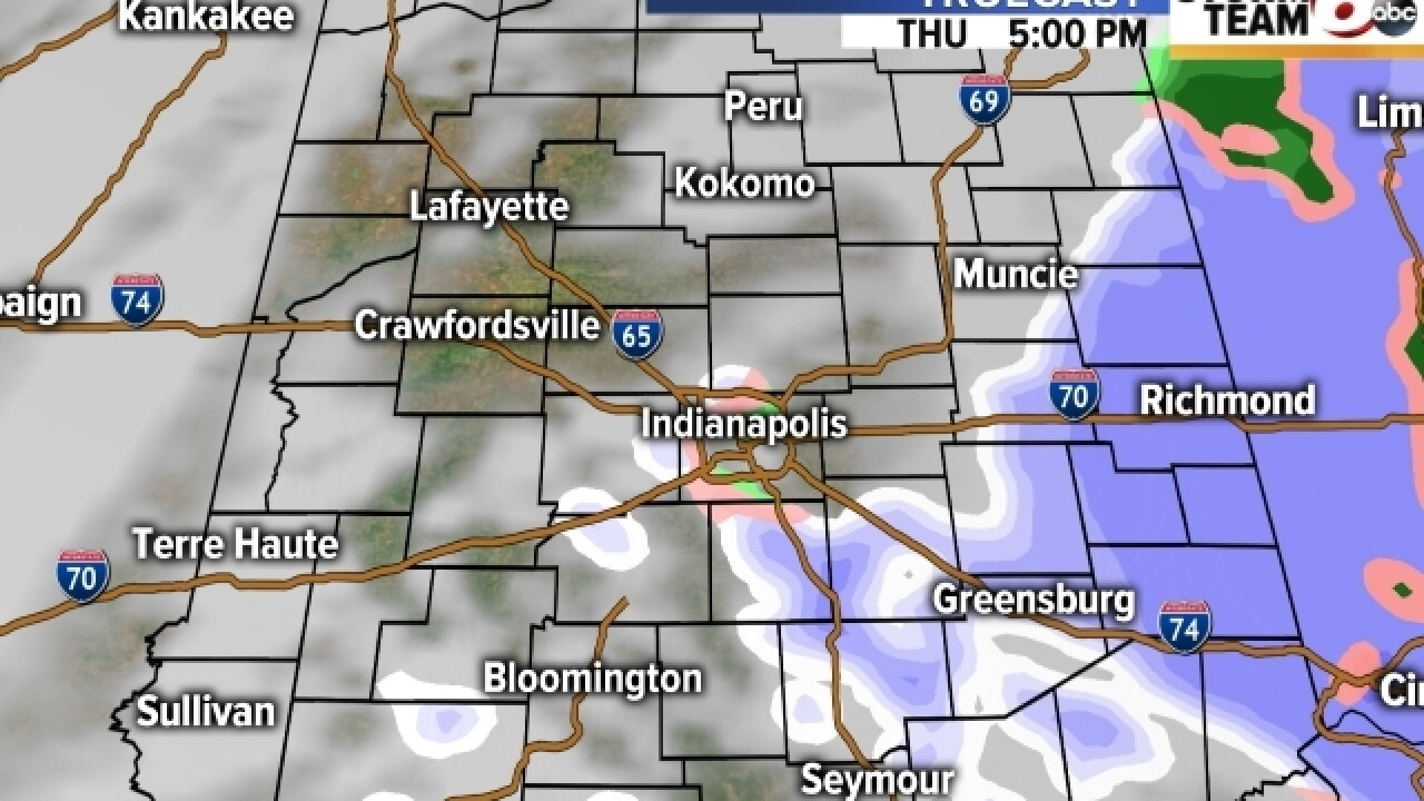 TIMELINE: Snow & freezing rain to affect commute