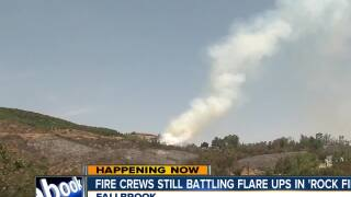 Evacuation Orders lifted for Fallbrook residents affected by Rock Fire
