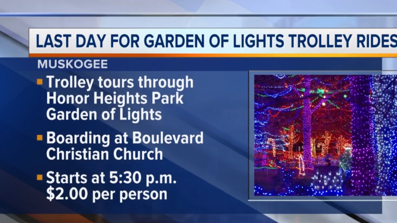 Last Day For Garden Of Lights Trolley Rides