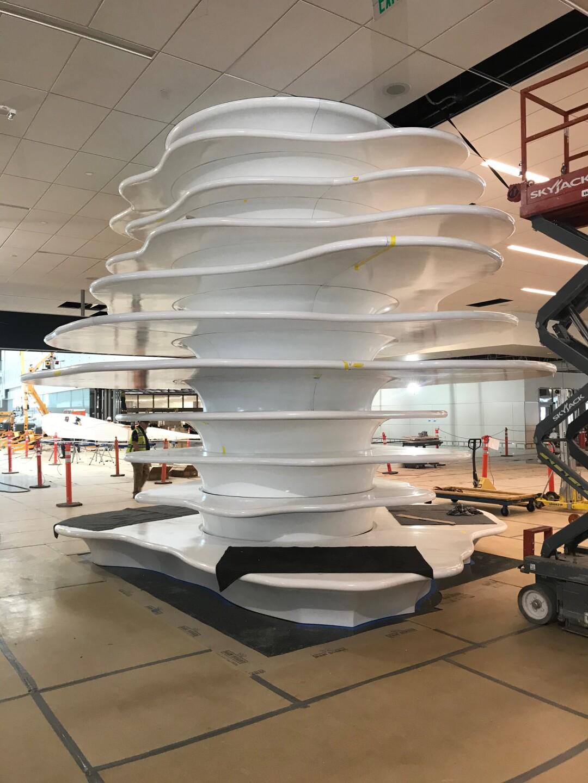 'Column Plates' at Salt Lake International designed by artist Gordon Huether