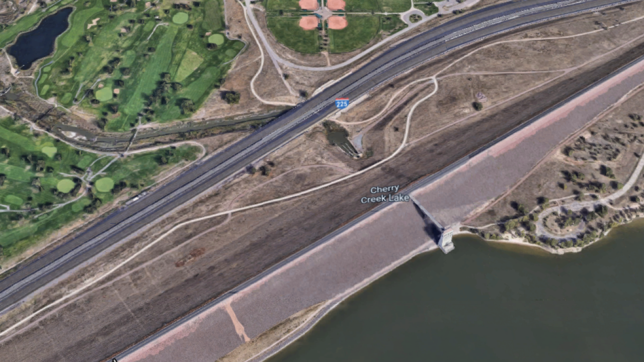 Cherry Creek Reservoir spillway_location of where body was found on May 11 2021