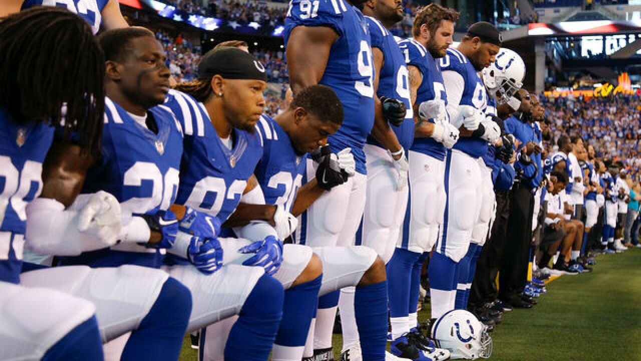 Colts statement on choice to kneel during anthem