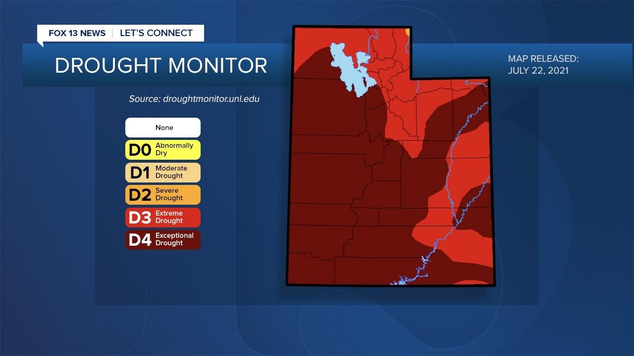 Utah Drought Status 7-22