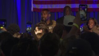 Rapper Kanye West held his first presidential campaign rally in North Charleston, South Carolina.