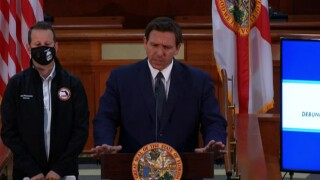 Florida Gov. Ron DeSantis holds a news conference in Tallahassee on April 7, 2021.jpg