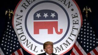 President Trump Speaks At The Republican National Committee Winter Meeting