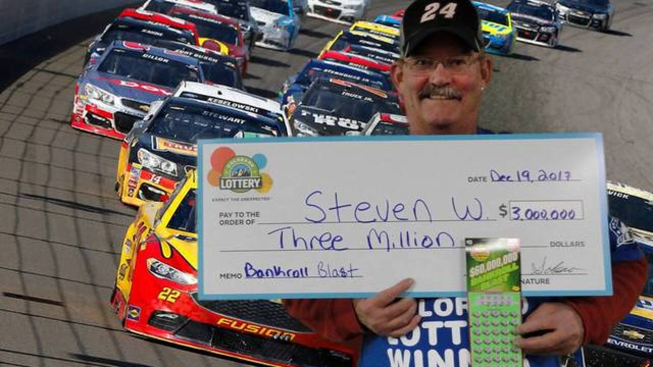 Ft. Collins man wins $3 million top prize in new scratch-off lottery game