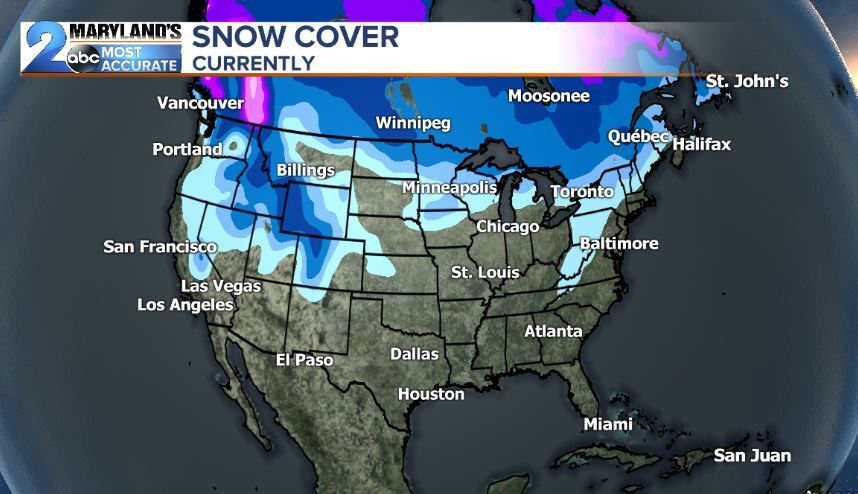Current United States Snow Cover As Of December 23rd 21.9%
