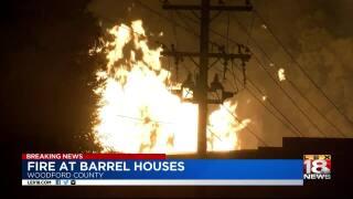 Fire at Jim Beam warehouse