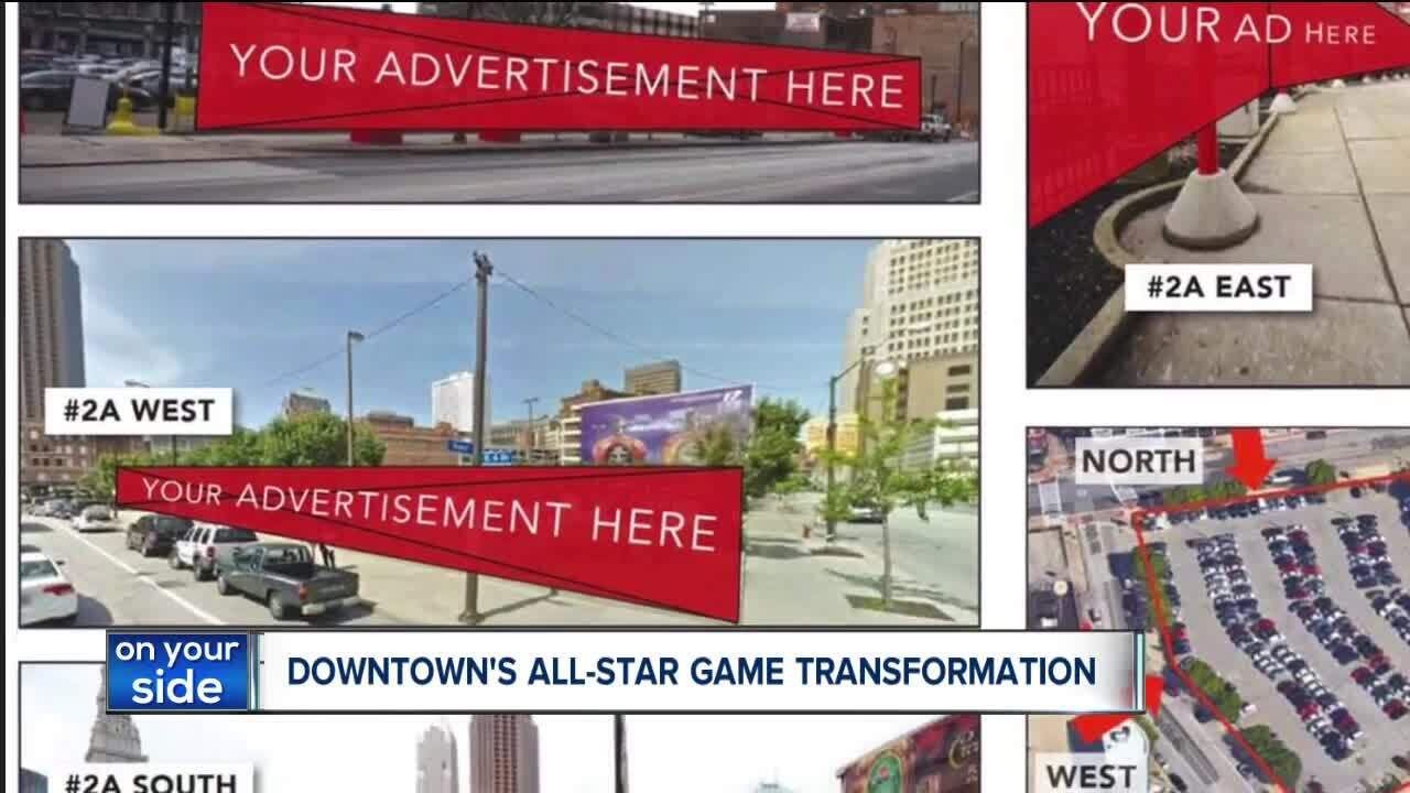 Plans to install ads and graphics in Downtown Cleveland