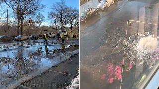 Upper West Side water main break floods streets, subway stations