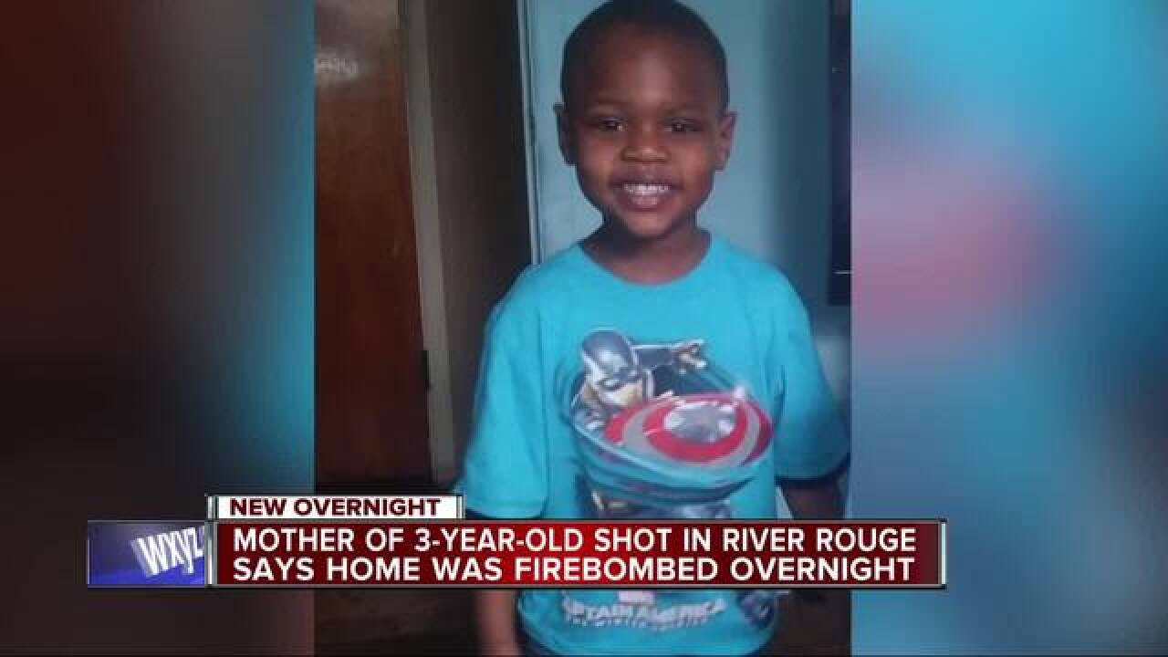 Mom: Michigan 3-year-old shot; home set on fire