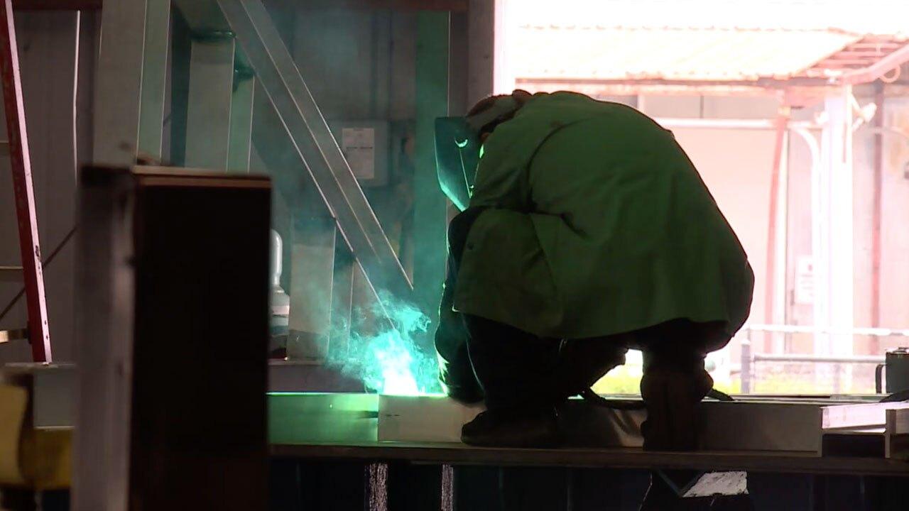 Shipyard worker at Port of Fort Pierce
