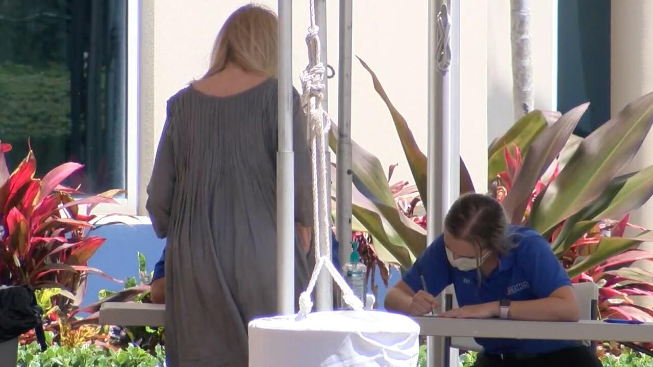 Coronavirus testing site in Boca Raton