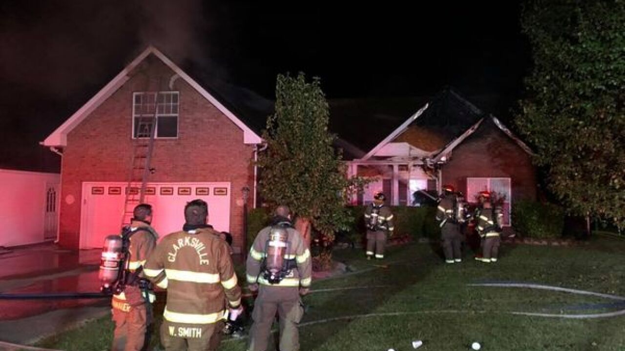 Clarksville Fire crews put out fire at home on Arrow Lane.
