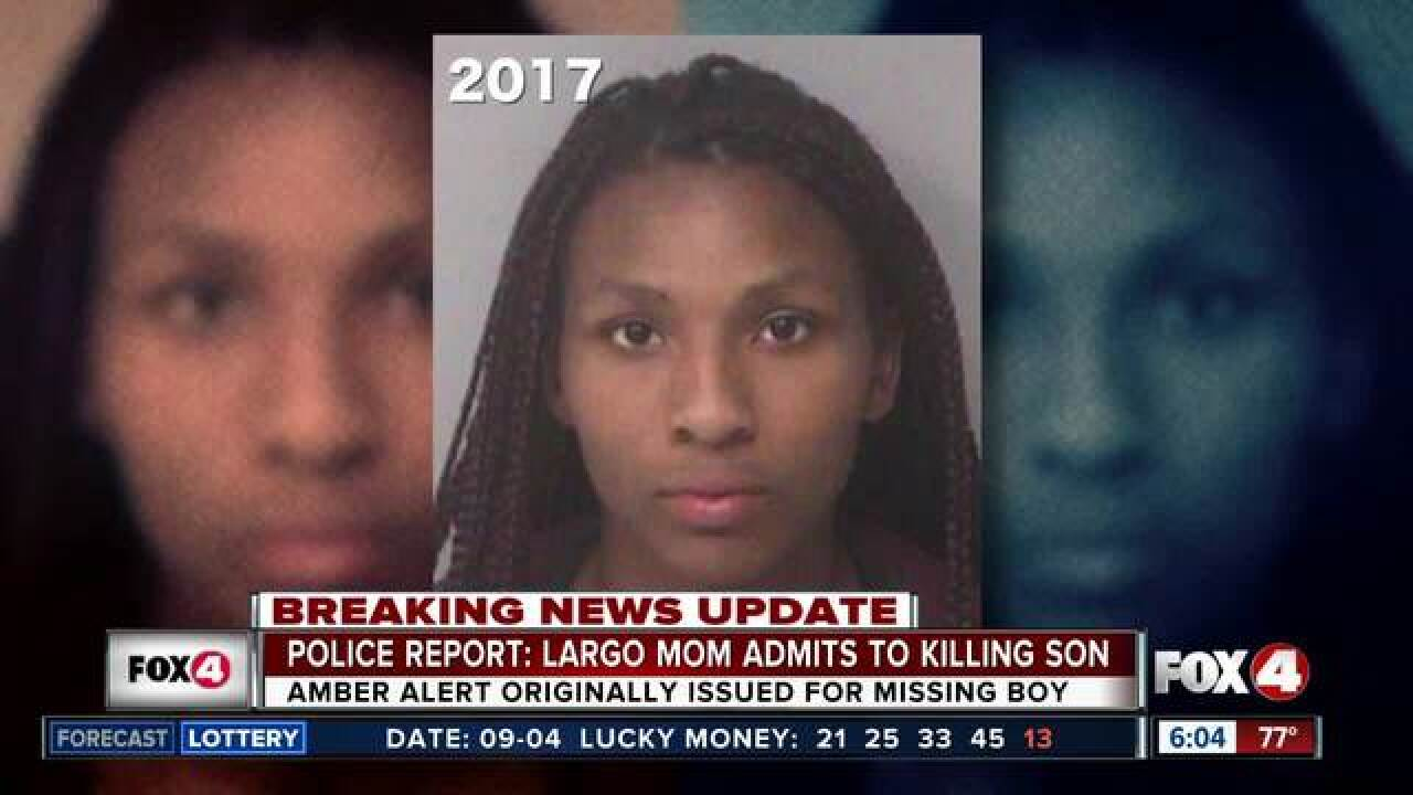 Mother of 2-year-old charged with murder
