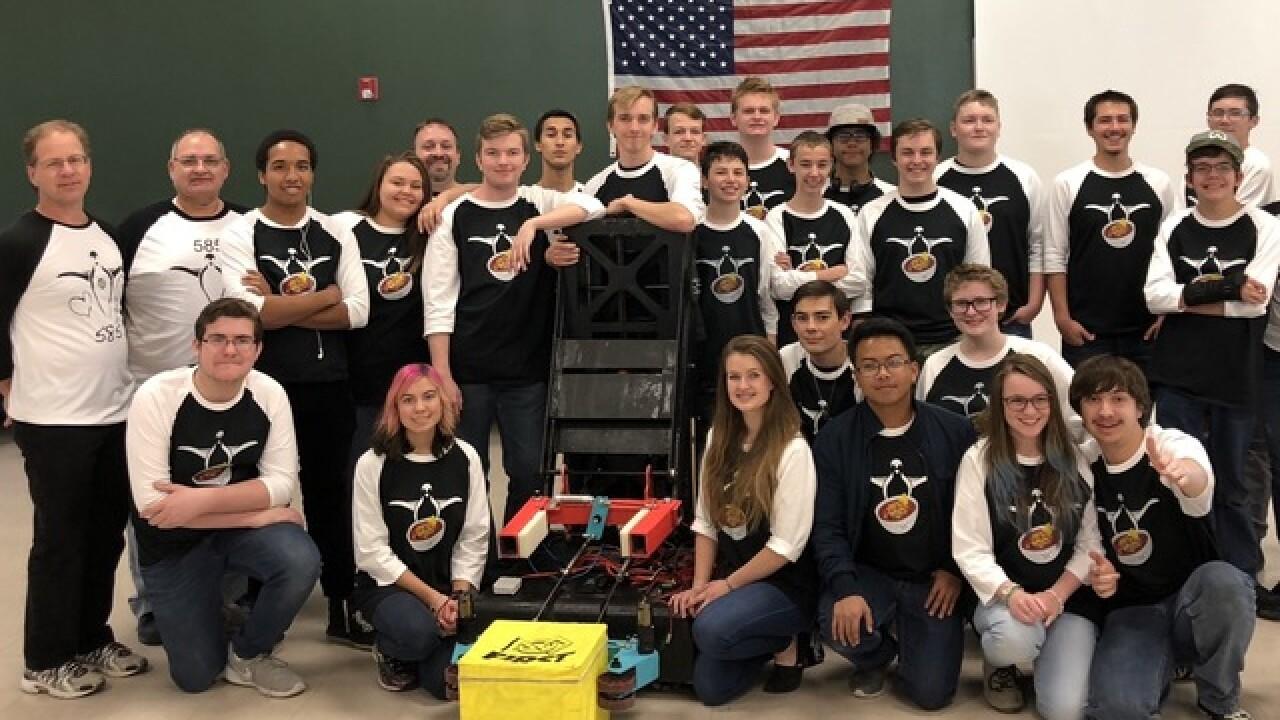 Robotics team moving to World Championships