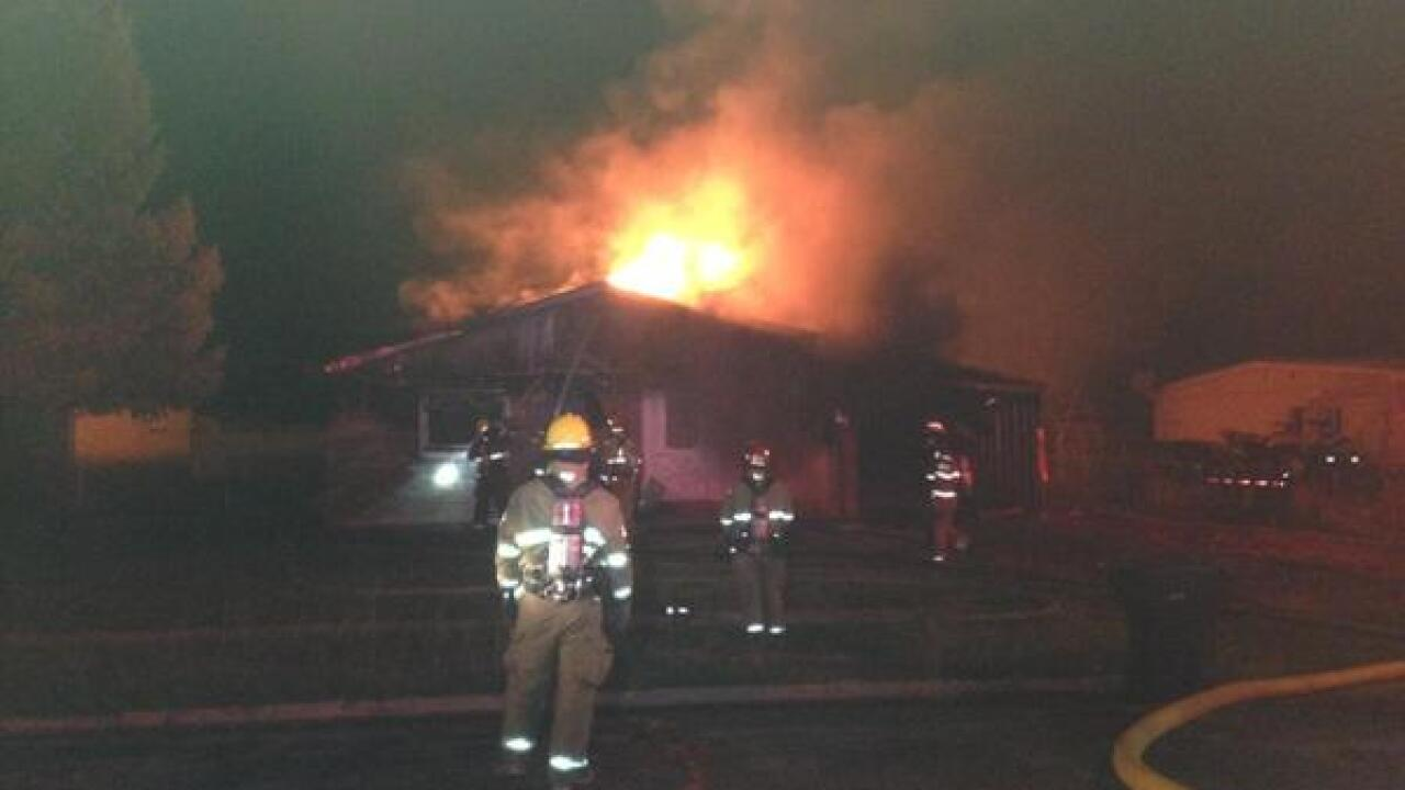 Blaze destroys vacant Ogden home; no injuries reported