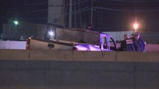 Deadly truck fire closes SB i-25 at 58th Avenue early Wednesday Morning.
