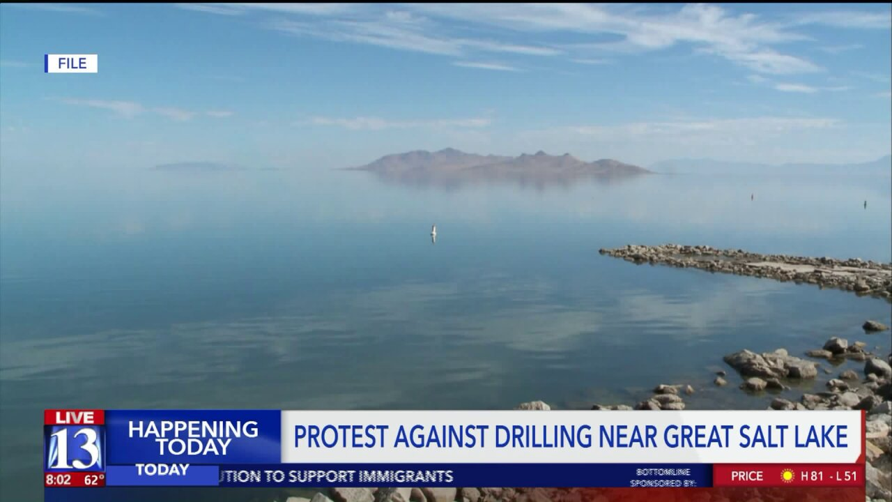 Environmental groups protest drilling rights sold near Great SaltLake