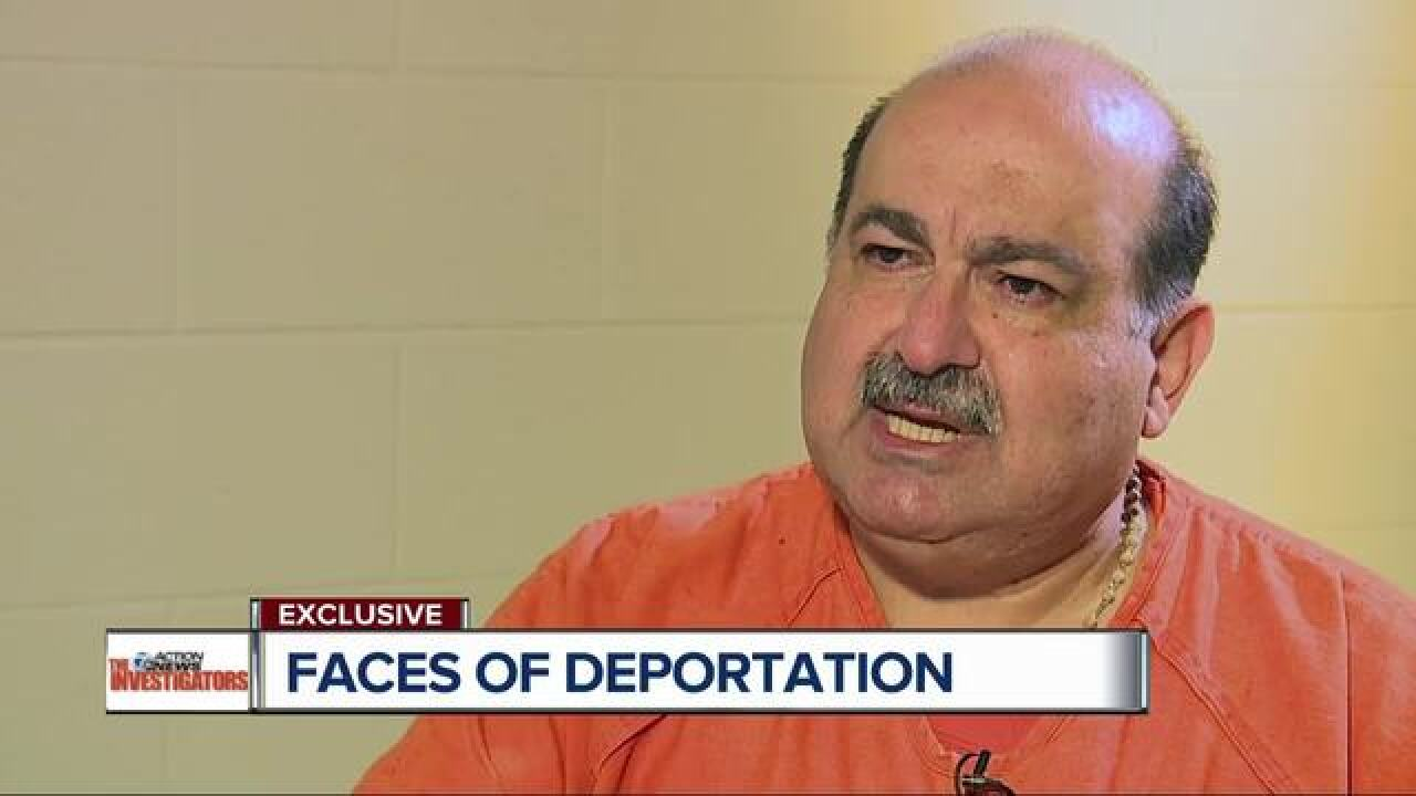 Jail interview with man facing deportation