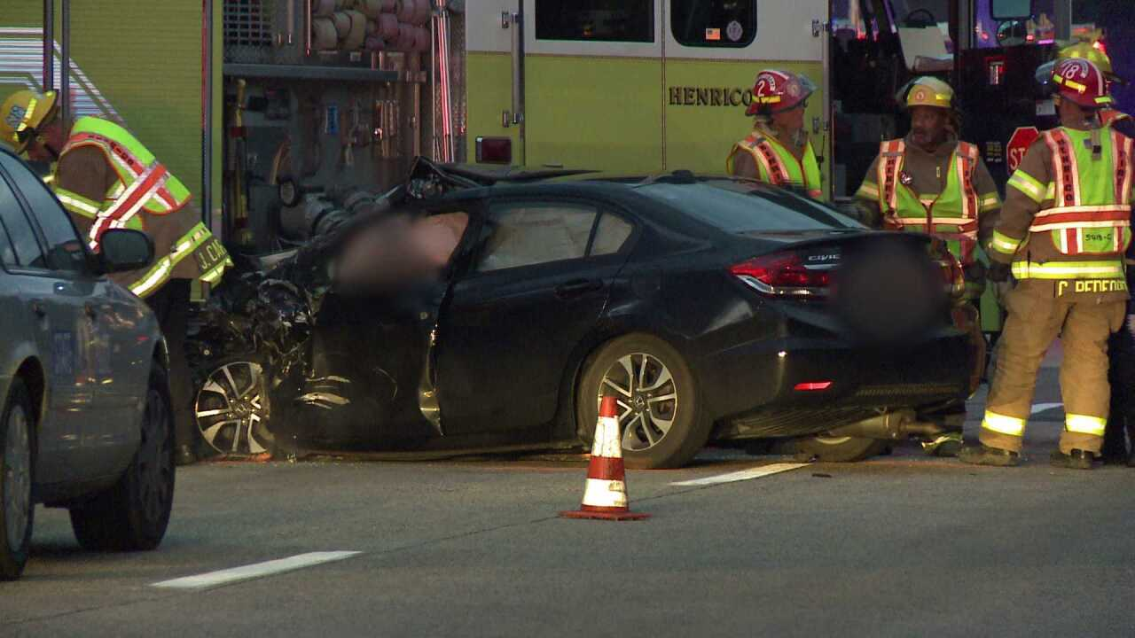 Police ID driver killed after crashing into Henrico firetruck